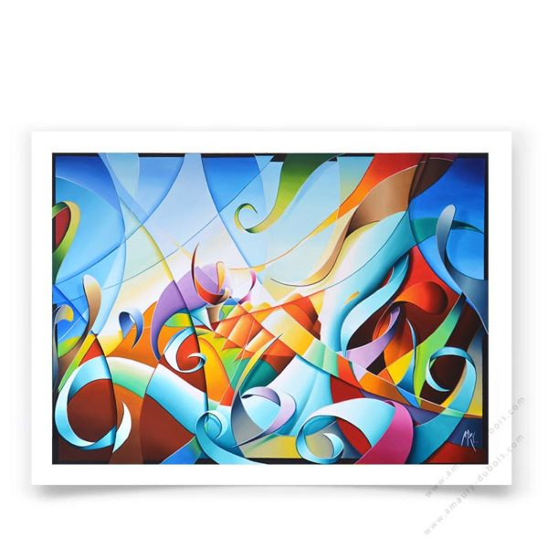 abstract colorful art poster