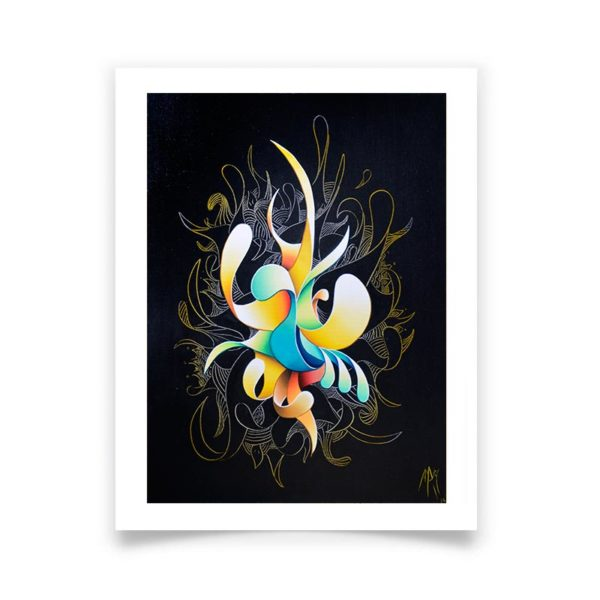 abstract black poster