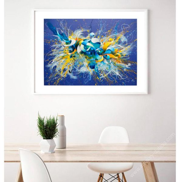 blue abstract fine art prints