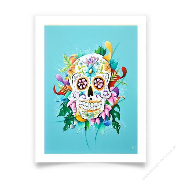 calavera Mexican Skull limited edition prints