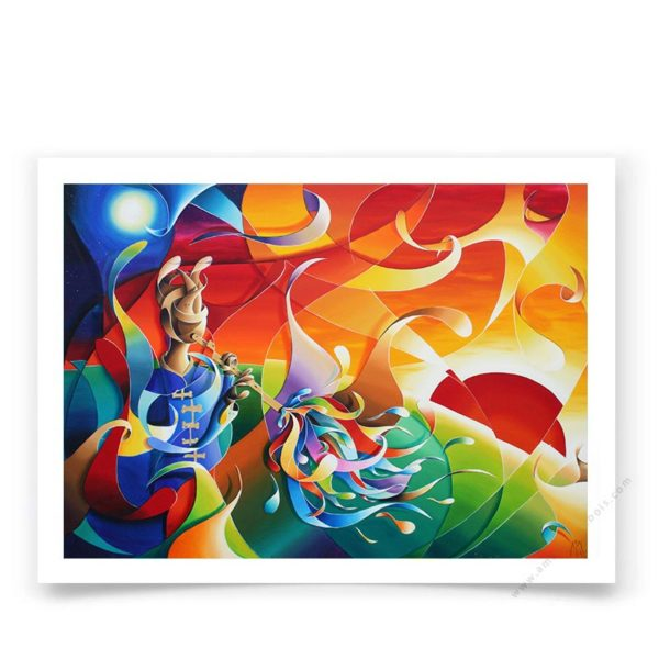 Beatles colorful fine art print -the fool on the hill-