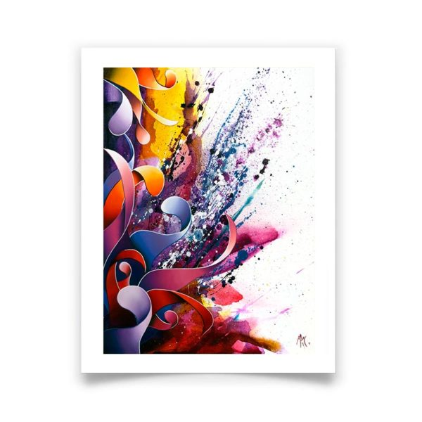 violet abstract art posters