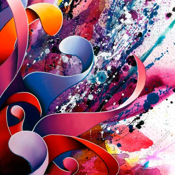 violet abstract art prints