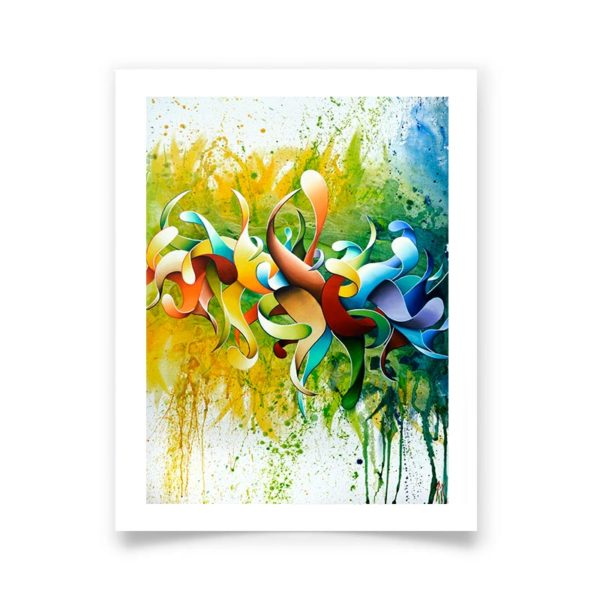 Multicolor abstract art posters