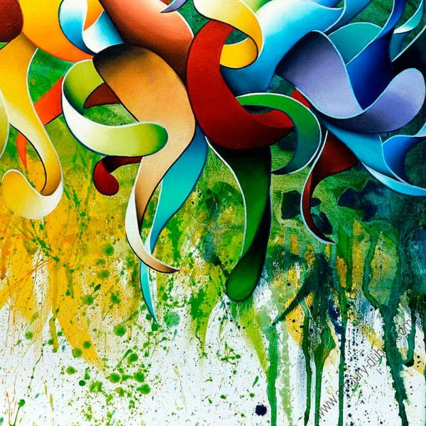 Multicolor abstract art prints