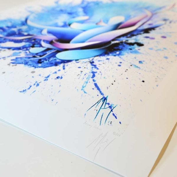blue contemporary high quality poster print numbered by the artist