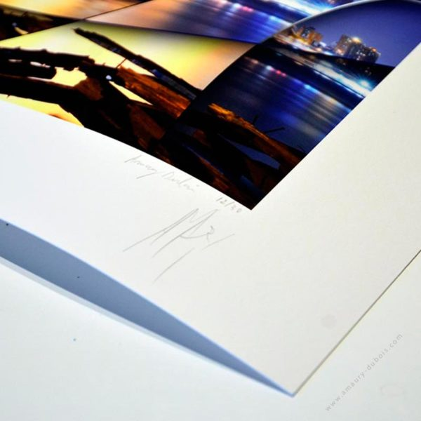 Hand signed and numbered fine art photograph of New york Brooklyn Bridge