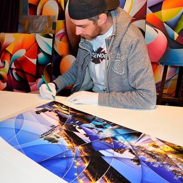 New york Brooklyn Bridge signing photographic prints