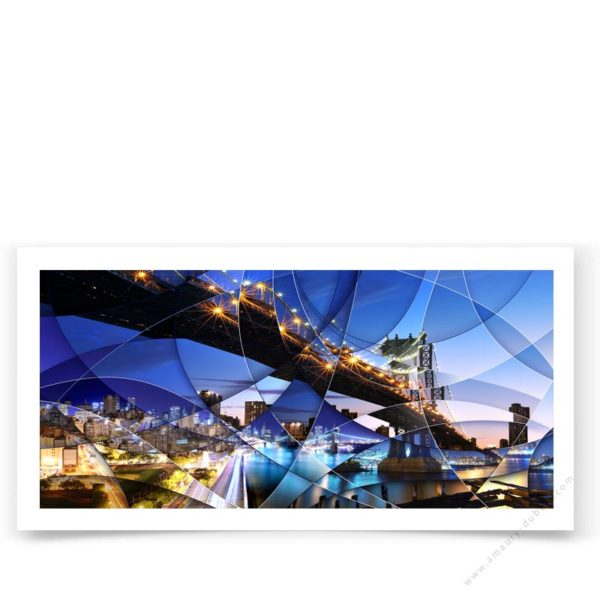 Fine art poster signed and limited edition of New York Bridge Photography