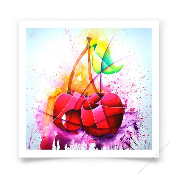 Fine art poster signed and limited edition of the pop painting Cherry