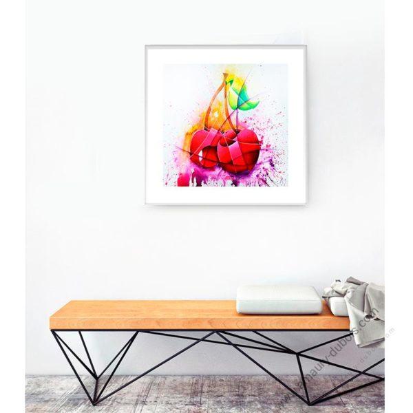 pop Art poster Cherry framed