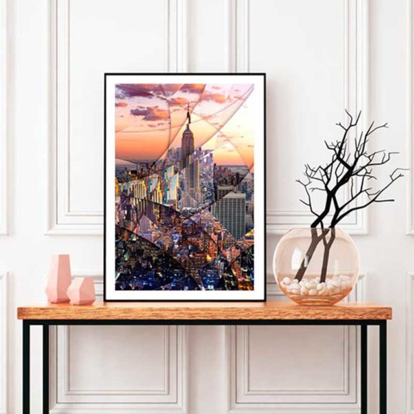 Art poster of the Empire State Building to decorate your interior