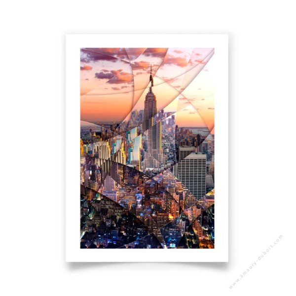 Art poster Empire State Building signed and numbered