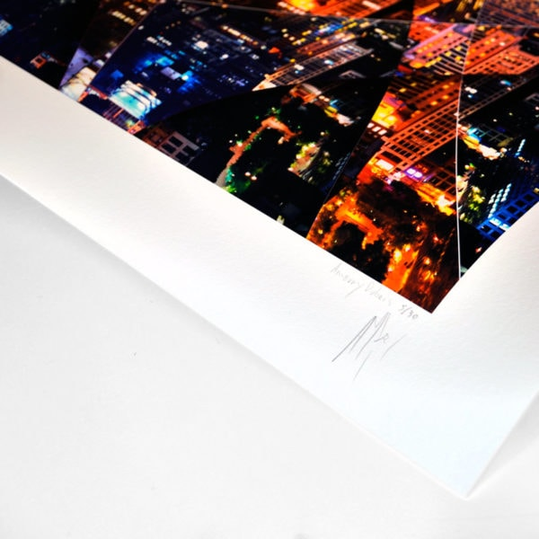 Hand signed and numbered fine art photograph of empire state building New York