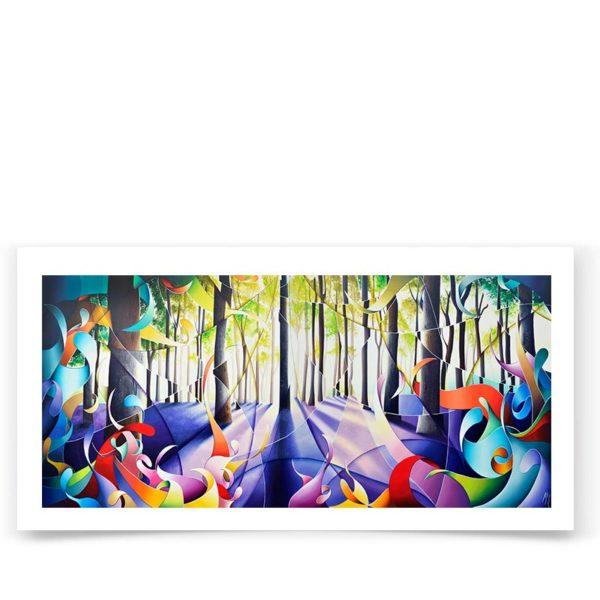 Affiche d'art limitée et signée de tableau de forêt