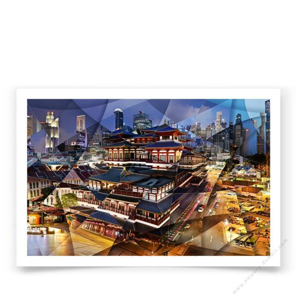 Hand signed and numbered fine art photograph of the Temple in Singapore.