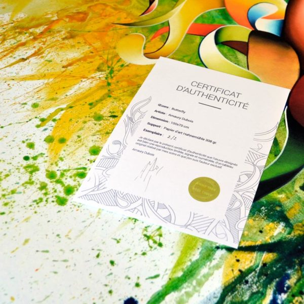 Signed limited abstract art posters